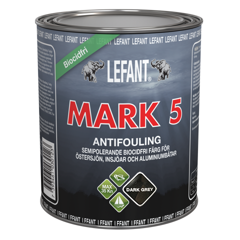 LEFANT Mark 5 Antifoulingmaali dark grey 750ml
